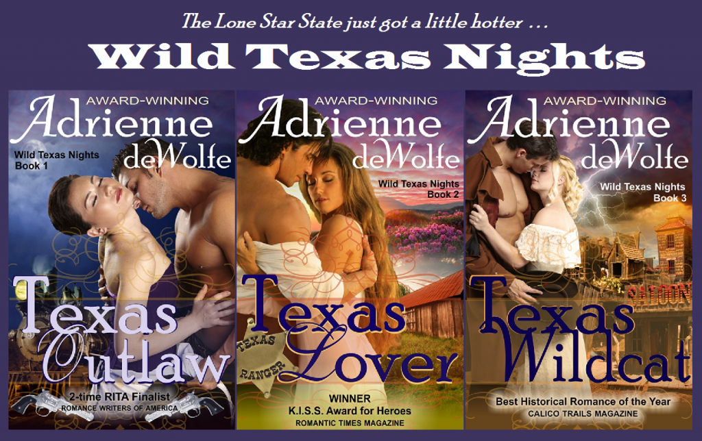 Texas Outlaw, Texas Lover, Texas Wildcat, Adrienne deWolfe